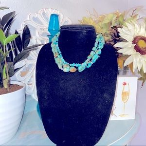 Silpada 925 Silver Chunky Turquoise Necklace